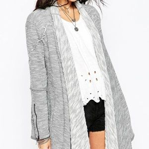 FREE PEOPLE In the Loop French Terry Cardigan, M